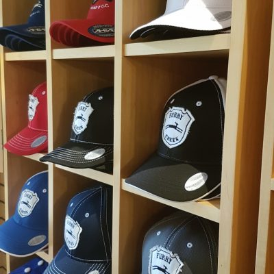 GOLF SHOP HAT SHELF