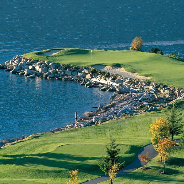 """The 14th hole at Furry Creek """"Tee to Sea"""""""