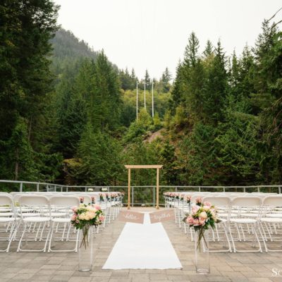 so wedding waterfall aisle